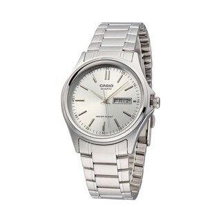 Casio Men's MTP-1239D-7A 'Quartz' Stainless Steel Watch - White