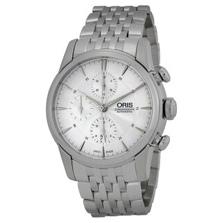 Oris Men's 77476864051MB 'Artelier' Chronograph Automatic Stainless Steel Watch - Silver