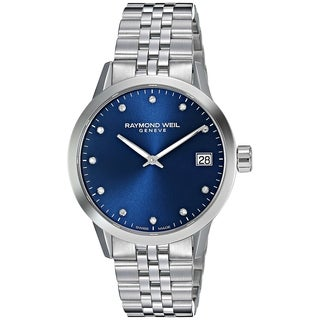 Raymond Weil Women's 5650-ST-CARA1 'Toccata' Diamond Stainless Steel Watch - Blue