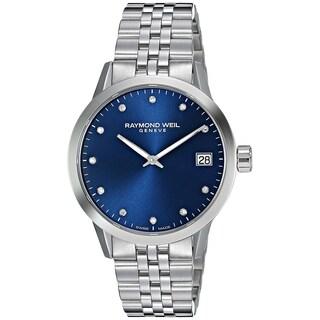 Raymond Weil Women's 5650-ST-CARA1 'Toccata' Diamond Stainless Steel Watch - Blue