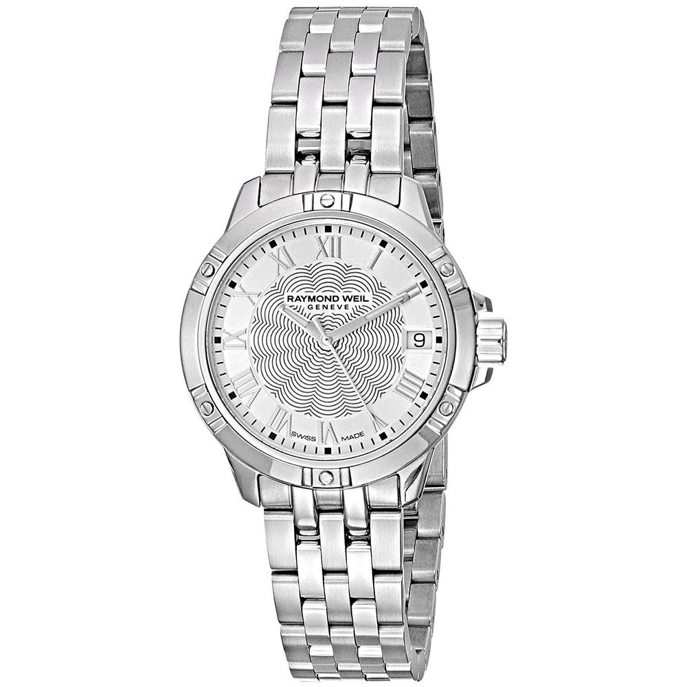 Raymond Weil Women's 5960-ST-00658 'Tango' Stainless Steel Watch - Silver (Stainless Steel - Silver - Sapphire - Three Hand - 8 Inch - Analog - 30mm