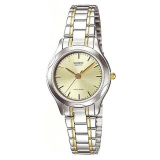 Casio Women's LTP-1275SG-9A 'Classic' Two-Tone Stainless Steel Watch - Gold-tone