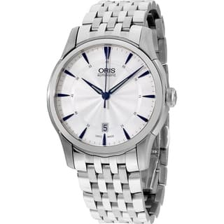 Oris Men's 73376704031MB 'Artelier' Automatic Stainless Steel Watch - Silver|https://ak1.ostkcdn.com/images/products/18753740/P24826125.jpg?impolicy=medium