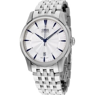 Oris Men's 73376704031MB 'Artelier' Automatic Stainless Steel Watch - Silver