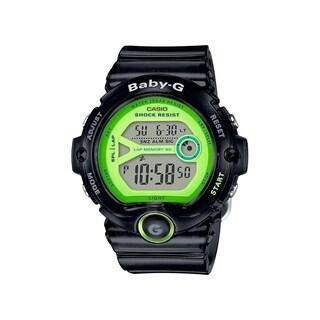 Casio Women's BG6903-1B 'G-Shock Baby-G' Digital Black Resin Watch - Green
