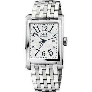 Oris Men's 56176574061MB 'Dress' Automatic Stainless Steel Watch - Silver