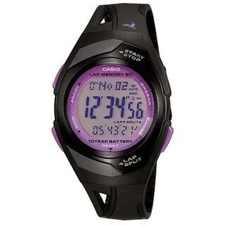 Casio Women's STR-300-1C 'Classic' Digital Black Rubber Watch