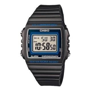 Casio Women's W-215H-8AV 'Classic' Digital Black Rubber Watch