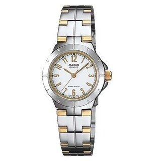 Casio Women's LTP-1242SG-7A 'Classic' Two-Tone Stainless Steel Watch - White