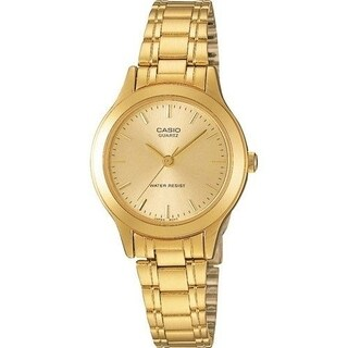 Casio Women's LTP-1128N-9A 'Classic' Gold-Tone Stainless Steel Watch