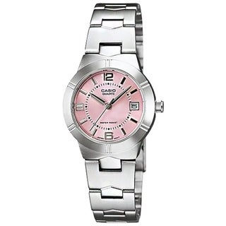 Casio Women's LTP-1241D-4A 'Classic' Stainless Steel Watch - Pink