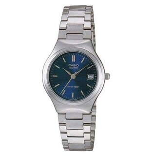 Casio Women's LTP-1170A-2A 'Classic' Stainless Steel Watch - Blue