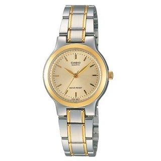 Casio Women's 'Classic' Two-Tone Stainless Steel Watch - Gold-tone