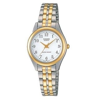 Casio Women's LTP-1129G-7B 'Classic' Two-Tone Stainless Steel Watch - White
