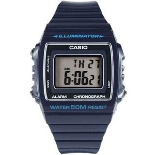 Casio Women's W-215H-2AV 'Classic' Digital Blue Rubber Watch - Black