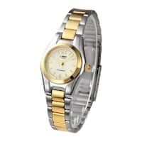 Casio Women's LTP-1253SG-7A Two-Tone Stainless Steel Watch - silver
