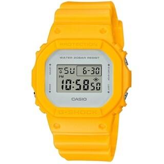 Casio Women's DW5600CU-9 'G-Shock' Digital Yellow Resin Watch - White