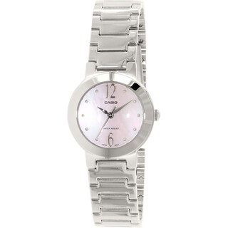 Casio Women's LTP-1191A-4A1 Stainless Steel Watch - Mother of Pearl