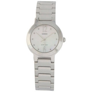 Casio Women's LTP-1191A-4A2 Stainless Steel Watch - Mother of Pearl
