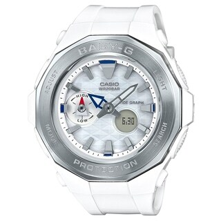 Casio Women's 'Baby-G Beach' Analog-Digital White Resin Watch