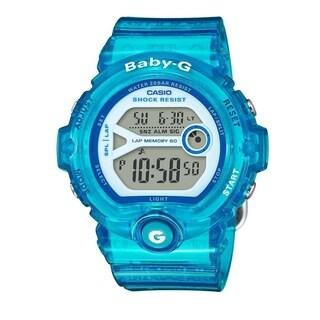 Casio Women's BG6903-2B 'G-Shock Baby-G' Digital Blue Resin Watch - White