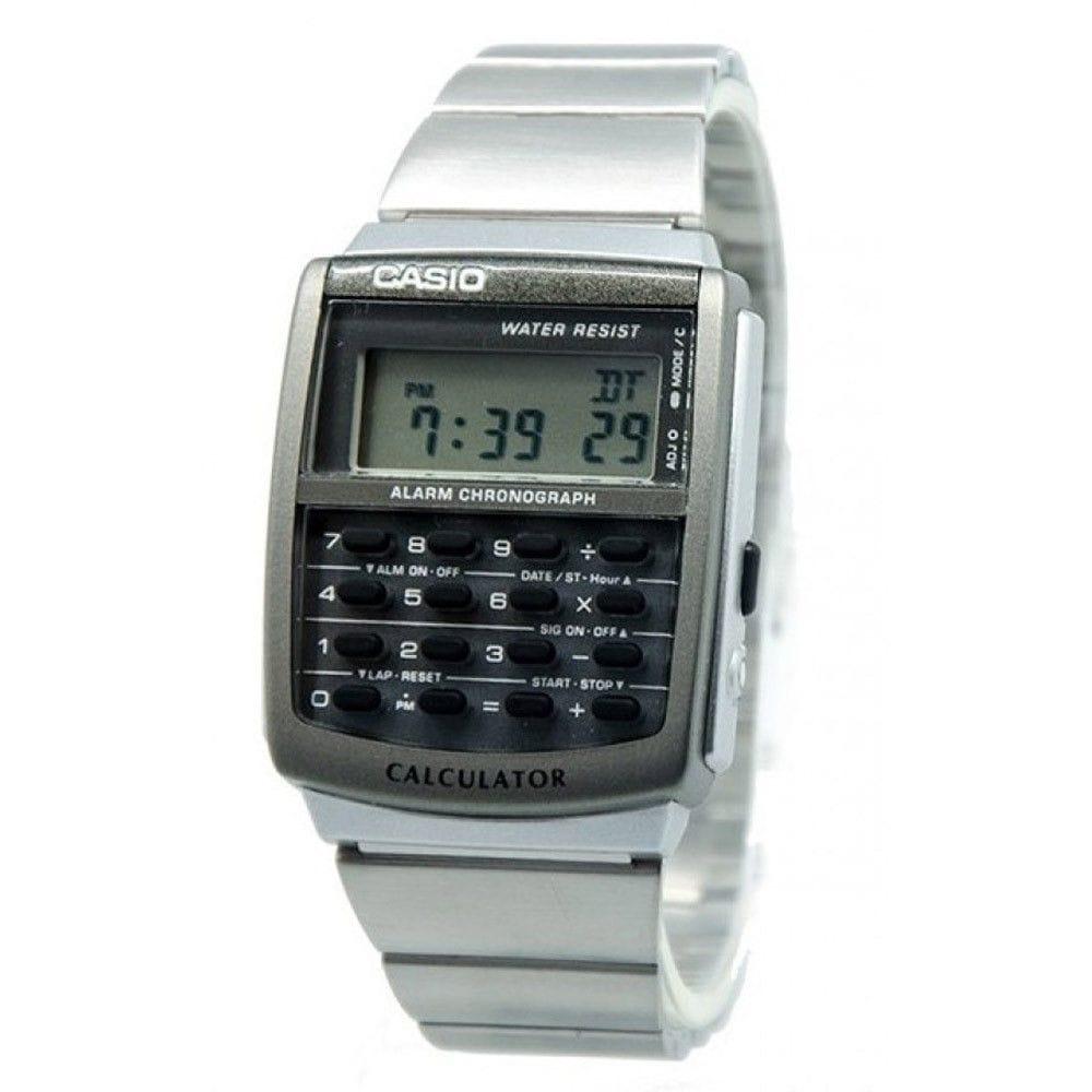 Casio Women's CA-506-1 Digital Stainless Steel Watch - Bl...