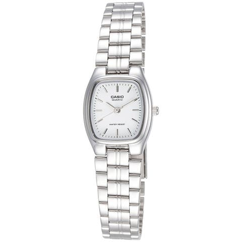 Casio Women's LTP-1169D-7A Stainless Steel Watch - silver