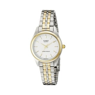 Casio Women's LTP-1129G-7A Two-Tone Stainless Steel Watch - Silver