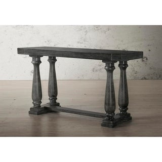 Best Master Furniture Weathered Oak Finish Wood Sofa Table