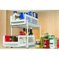 2 Tier Storage Drawer Organizer - Kitchen Cabinet Organizer