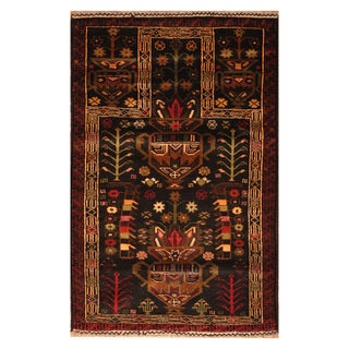 Handmade One-of-a-Kind Balouchi Wool Rug (Afghanistan) - 2'9 x 4'3