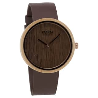 Dakota Wood Watch with Leather Band and Wood Dial|https://ak1.ostkcdn.com/images/products/18754097/P24826860.jpg?impolicy=medium