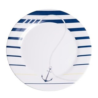 "Galleyware Newport 10"" Melamine Non-skid Dinner Plate (Set of 4)"