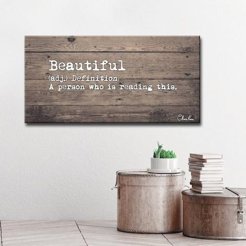 Olivia Rose 'Define Beautiful' Canvas Art by Olivia Rose