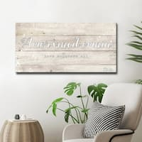 Ready2HangArt 'Love Conquers' Inspirational Canvas Art by Olivia Rose - White