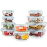 20 Pc Glass Food Containers Variety Food Storage Containers with Lids