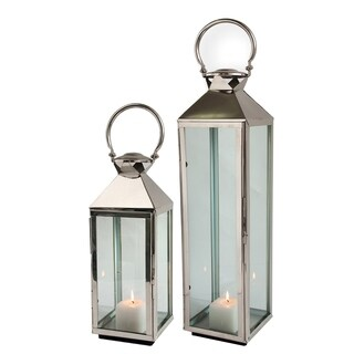 Polished Nickel Stainless Steel 25-inch Classic Lantern