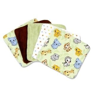 Trend Lab Chibi Zoo 5 Pack Wash Cloth Set