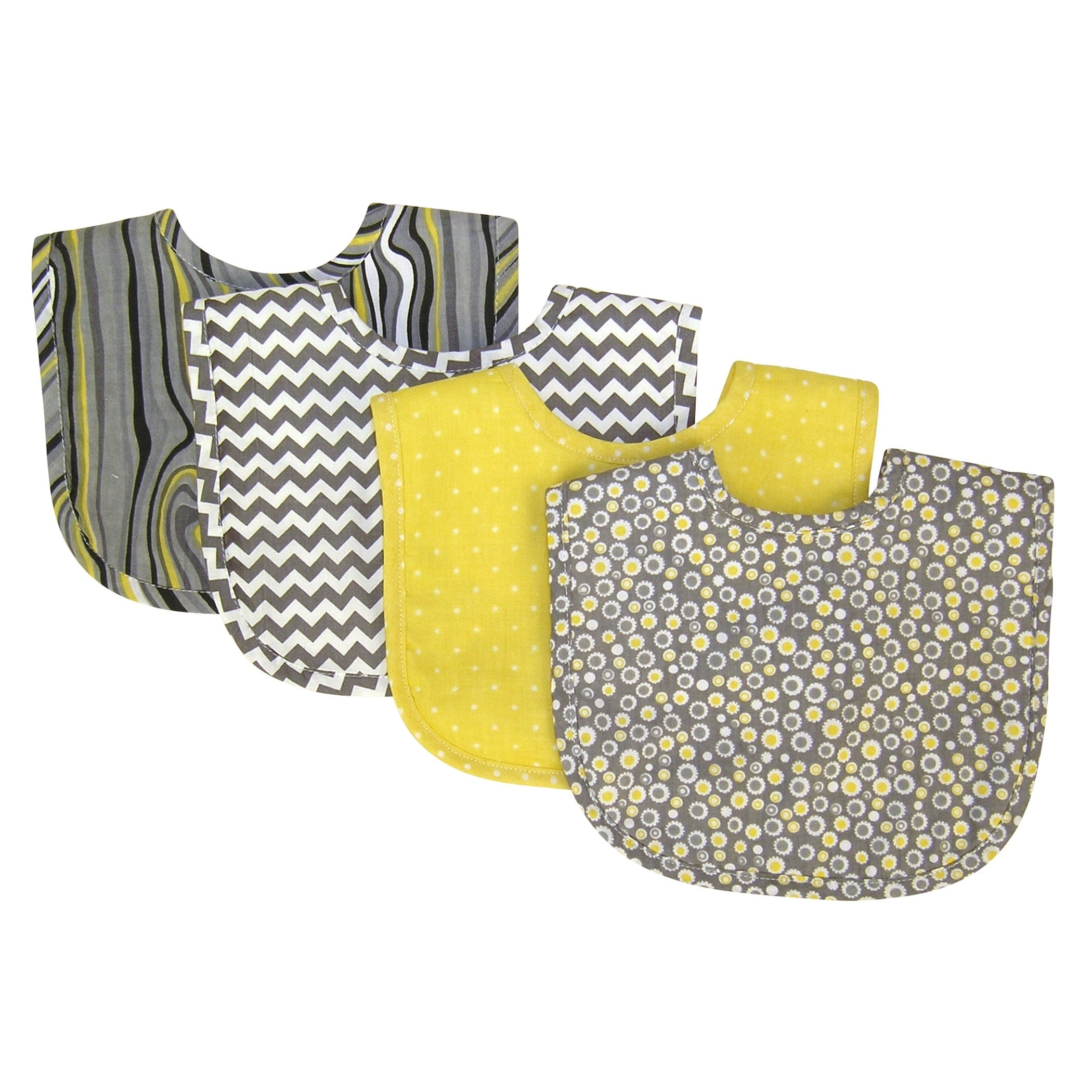 Trend Lab Hello Sunshine 4 Pack Bib Set, Multi