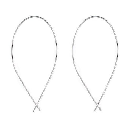 Pori Jewelers Sterling Silver Thread-Thru Teardop Dangle Earrings