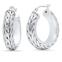 Pori Jewelers Sterling Silver Bali Hoop Earrings