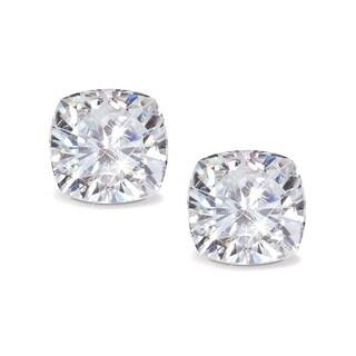Pori Jewelers Swarovski Elements Crystal & Sterling Silver Cushion-Cut Stud Earrings