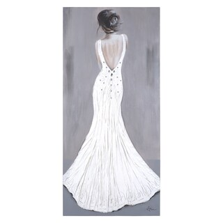 Yosemite Home Decor 'Woman in White' Original Hand-painted Wall Art