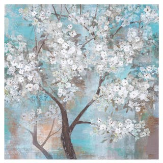 "Yosemite Home Decor ""Tree In Bloom"" Original Hand-Painted Wall Art"