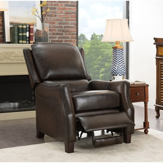 Sandro Brown Premium Top Grain Leather Recliner Chair