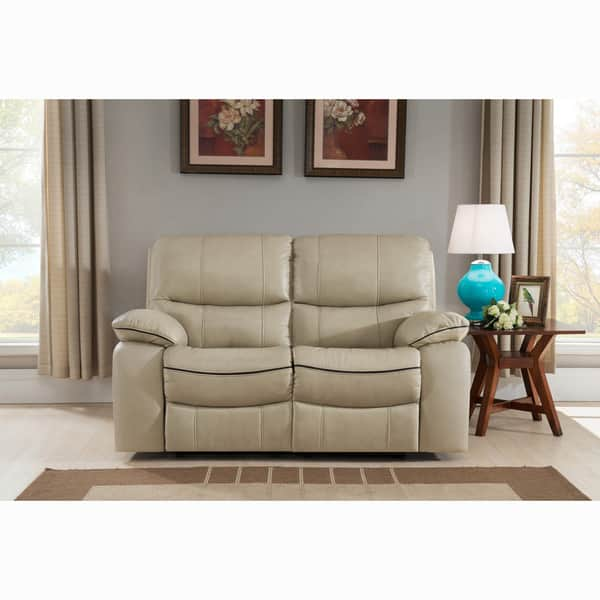 Stupendous Shop Luca Ivory Top Grain Leather Power Reclining Sofa And Onthecornerstone Fun Painted Chair Ideas Images Onthecornerstoneorg