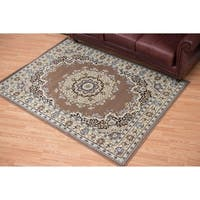 Westfield Home Montclaire Oriental Ash/Beige Traditional Area Rug (7'10 x 10'6)