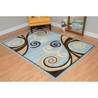 "Westfield Home Montclaire Gabriela Blue Area Rug - 7'10"" x 10'6"""