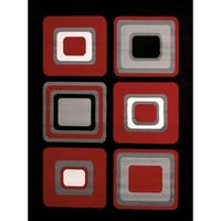 "Westfield Home Montclaire Contemporary Color Blocks Red Area Rug - 7'10"" x 10'6"""