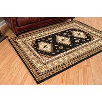"Westfield Home Montclaire Feranda Traditional Black Area Rug - 7'10"" x 10'6"""